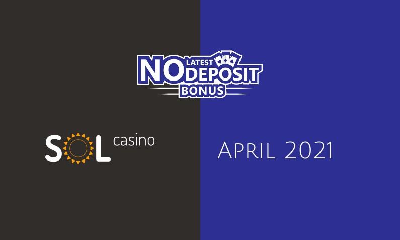 Latest no deposit bonus from Sol Casino- 18th of April 2021