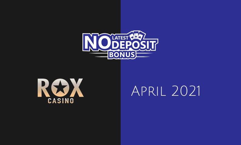 Latest Rox Casino no deposit bonus 17th of April 2021
